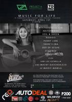 TONO Events & Project 4 Production: Music For Life: A Fundraising Event for Raquel Tugade